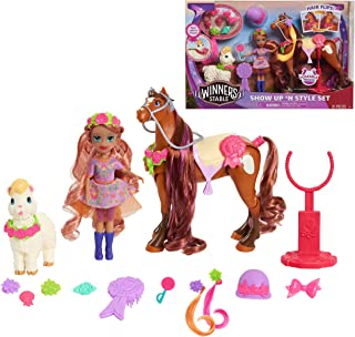 Winner's Stable 53181 Show Up 'N Style Set, 20 Pieces Includes Valentina Doll, Charra Horse, and Loli Llama