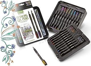 Crayola 58 6503 Signature Detailing Gel Pens, Metallicand Glitter, Art Set,Adult Coloring, Gift