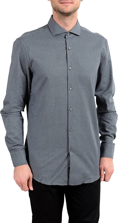 Hugo Boss Jason Men's Slim Button Down Long Sleeve Dress Shirt Sz US 15 IT 38