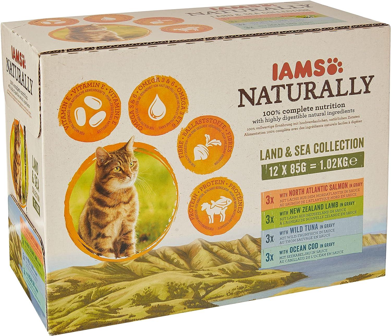 IAMS Naturally Gato Adulto Colección Tierra y Mar [1,02 kg]