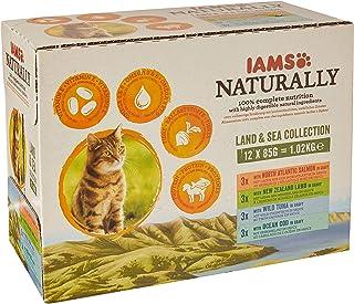 IAMS Naturally Gato Adulto Colección Tierra y Mar 12x85 g