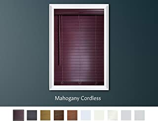 wood grain vinyl blinds