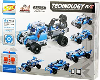 Bo Toys Building Bricks STEM 60 in 1 RC Toy, 401 Pcs Buggy, Race car 60 in 1 Models Construction Blocks, Build It Yourself Remote Control Toys