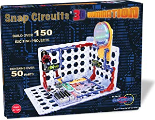 Snap Circuits 3D Illumination Electronics Exploration Kit   Over 150 STEM Projects   Full Color Project Manual   50+ Snap Circuits Parts   STEM Educational Toys for Kids 8+