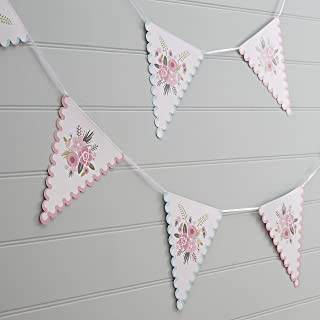Ginger Ray FF-206 Floral Fancy Design Pink & Blue Party Bunting, 3 metre, Mixed