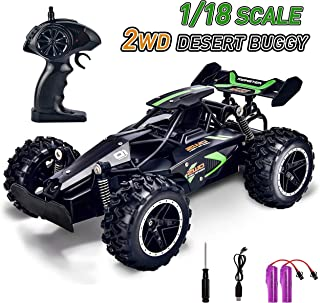 Kids Remote Control Car for Boys RC Cars Hobby Remote Control Truck Fast Radio Controlled Car with 2 Rechargeable Battery RC Racing Car Toys for Boys Age 5 6 7 8 9 Year Old Gifts - Black