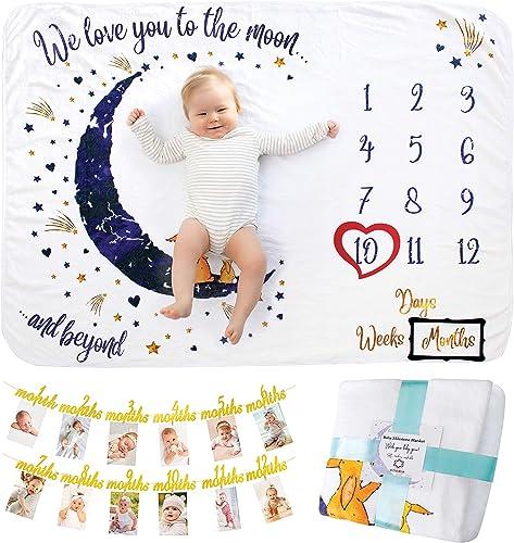 Coperta Mesi Neonato   Con Festone Primo Compleanno   Coperta Foto Neonato o Neonata, Unisex   Regalo Personalizzato ...