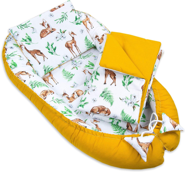colch/ón para beb/é cuna para beb/és PIMKO 5 piezas Saco de dormir para beb/é manta cambiador 100/% algod/ón gris Asher saco de dormir con manta para dormir