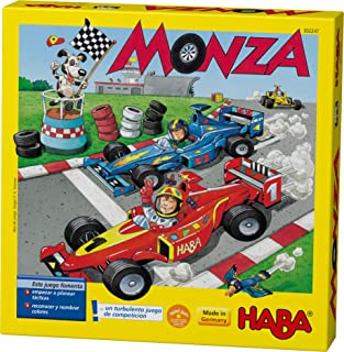HABA Monza – A Car Racing Beginner's Board Game Encourages Thinking Skills..