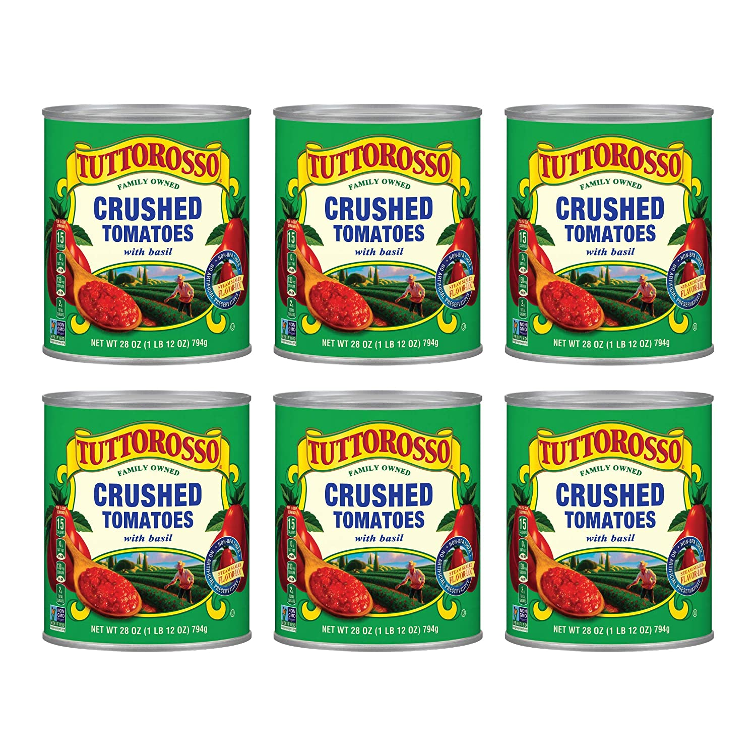 Kansas City Mall Tuttorosso Crushed Max 50% OFF Tomatoes with Basil Vegetari and Free Gluten