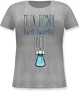 Shirtracer Oktoberfest & Wiesn Damen - Mein Dirndl hat Heute frei - Lockeres Damen-Shirt in großen Größen mit Rundhalsausschnitt