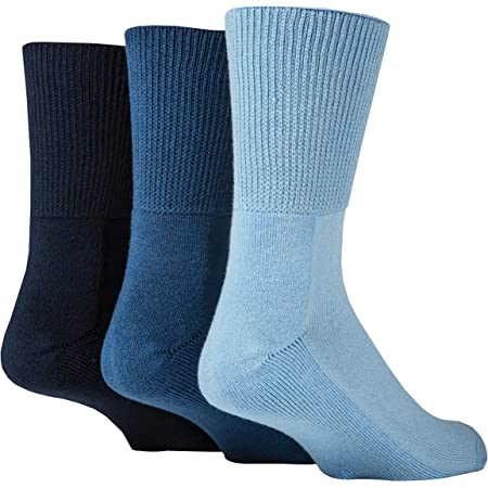 IOMI Footnurse - 3 Pack Unisex Extra Wide Bamboo Diabetic Socks   4 Sizes   For Swollen Feet & Legs   Smooth Toe Seam   Cushioned Foot