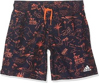 Adidas Yb Gr Sh Cl Swim Shorts For Kids, 11-12 Years legend ink/true orange