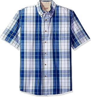 Authentics Men's Short Sleeve Plaid Woven Shirt