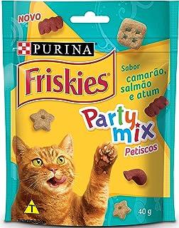 NESTLÉ PURINA FRISKIES Party Mix Petisco Party Mix para Gatos Adultos Camarão, Salmão e Atum 40g