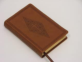 NASB Compact Bible, Brown Diamond/Cross, LT
