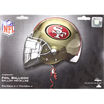 Anagram 26191 NFL San Francisco 49Ers Football Jersey Foil Balloon 24 Multicolored