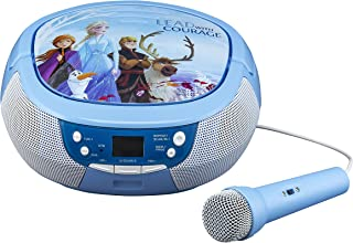 Frozen 2 CD Boombox with FM Radio & Real Microphone