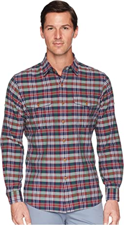 Polo Ralph Lauren Madras Ranger Military Roll Up Tab Long Sleeve Sport Shirt