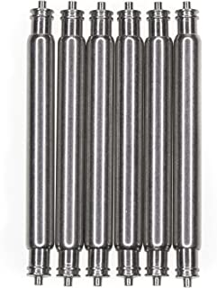 OEM Diver's Fat Spring Bars 6 Piece Non-Magnetic Stainless Steel 20mm x 2.5mm x 0.8mm Double Fringe