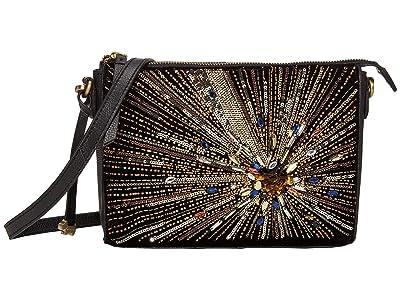 Radley London Selby Street Star Burst Small Zip Top Clutch (Gold) Clutch Handbags