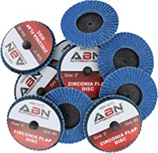 ABN 3in T27 80 Grit High Density Zirconia Alumina Flat Flap Disc Roloc Roll Lock Grinding Sanding Sandpaper Wheels 10 PK