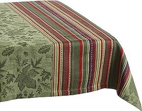 مفرش منضدة DII بتصميم أوراق الخريف من قماش الجاكار، 52×52