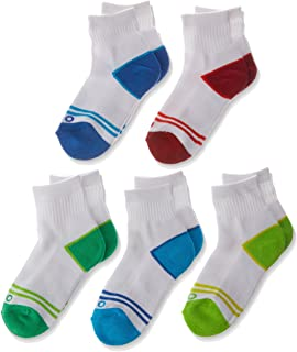 Rio Kids Cotton Blend Active Quarter Crew Socks (5 Pack)