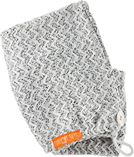 Stockout AQUIS Lisse Luxe Hair Turban - COLOR:Black/White - Standard size - SIZE .22 oz/ 6.4 mL