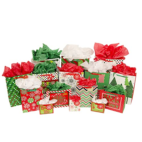 100 CHRISTMAS GIFT WRAPPING BAGS CLOSEOUT
