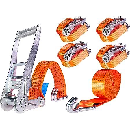 Shz Zurrkette 3m Spannkette Ratschenspanner Zurrketten 2 Teilig Zweiteilig 8mm 4000 Dan 40 Kn 4000 Kg Zk2 8 3 Auto