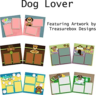 DOG LOVER Scrapbook Set - 5 Double Page Layouts
