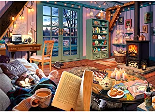Best Ravensburger Cozy Retreat 500 Piece Large Format Jigsaw Puzzle for Adults - Every Piece is Unique, Softclick Technology Means Pieces Fit Together Perfectly Review