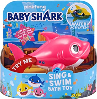 Robo Alive Junior Baby Shark Battery-Powered Sing and Swim Bath Toy by ZURU – Mommy..
