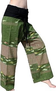 RaanPahMuang Soft Textured Chomtong Cotton Thai Fisherman Wrap Pants