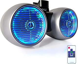 """Pyle Marine Wakeboard Tower Speakers - Waterproof 8in Dual Subwoofer Speaker Set and 1.0"""" Tweeters, LED Lights and 600 Wat..."""