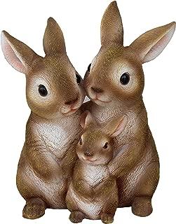 TABOR TOOLS Rabbit Family Ornament, Terrace Figurine, Miniature Statue, Cute Patio Bunny Figure, Outdoor Decor, Sculpture for Your Garden, Home or Office. DM417A. (Rabbit Family)