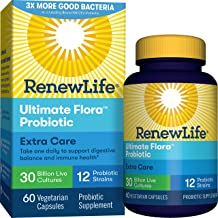Renew Life® Adult Probiotic - Ultimate Flora™ Extra Care Probiotic Supplement for Men & Women - Shelf Stable, Gluten, Dairy & Soy Free - 30 Billion CFU - 60 Vegetarian Capsules