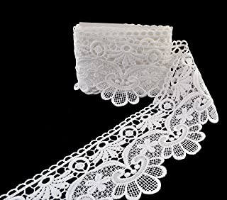 """EZthings acabamento de renda com bordas de Venise da Eyelet Fabric para artesanato """"Faça você mesmo"""" (3 metros, mini flores)"""