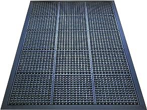 """A1HC First Impression 光泽气泡顶部抗* * 橡胶缓冲气泡垫,适合站、厨房、车间、装配区域、销售点和户外等。 36"""" x 48"""" 黑色 A1HCBM01-2"""