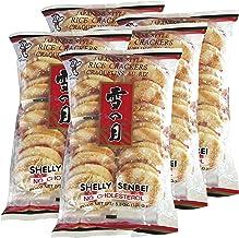 Want Want Big Shelly Shenbei Snowy Crispy Rick Cracker Biscuits - Sugar Glazed 5.30 oz. (Pack of 5)