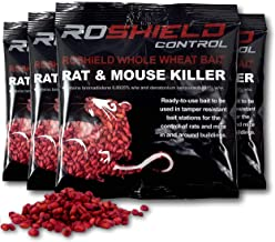 Roshield 500g Whole Wheat Bait Rat & Mouse Poison Killer Sachet Kit+ 20% Extra Free