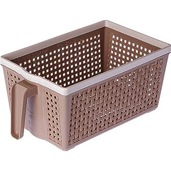 Nayasa Frill Plastic Basket No. 1, Small, Beige