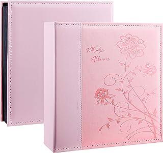 Álbum de fotos Artmag 4 x 6 fotos, grande capacidade de capa de couro para família de casamento, álbuns de fotos que manté...