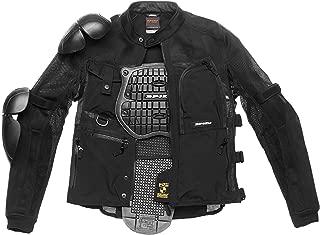 colore: Nero taglia L Bikers Gear Australia Limited intrecciato moto in pelle scamosciata