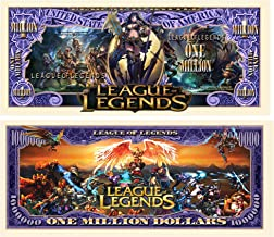 American Art Classics Limited Edition League of Legends Collectible Million Dollar Bill in Currency Holder