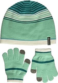 Columbia 儿童小青年帽子和手套套装,蓝色,