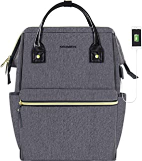 KROSER Laptop Backpack School Travel Backpack Stylish Doctor Bag 15.6 Inch Water Repellent College Casual Daypack with USB Port Business Work Computer Bag for Men/Women-Grey