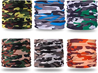 Gorecio 4,6,9 PCS Face Scarf Headband Bandana Mask - 16 in 1 Headwear Multiuse Neck Gaiter Headwrap Balaclava Helmet Liner Dust Head Sport Sweatband for Face Shield Ski Men Cold Snowboard