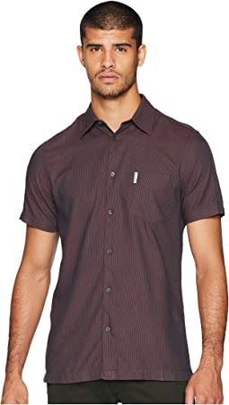Short Sleeve Blocked Dobby Shirt
